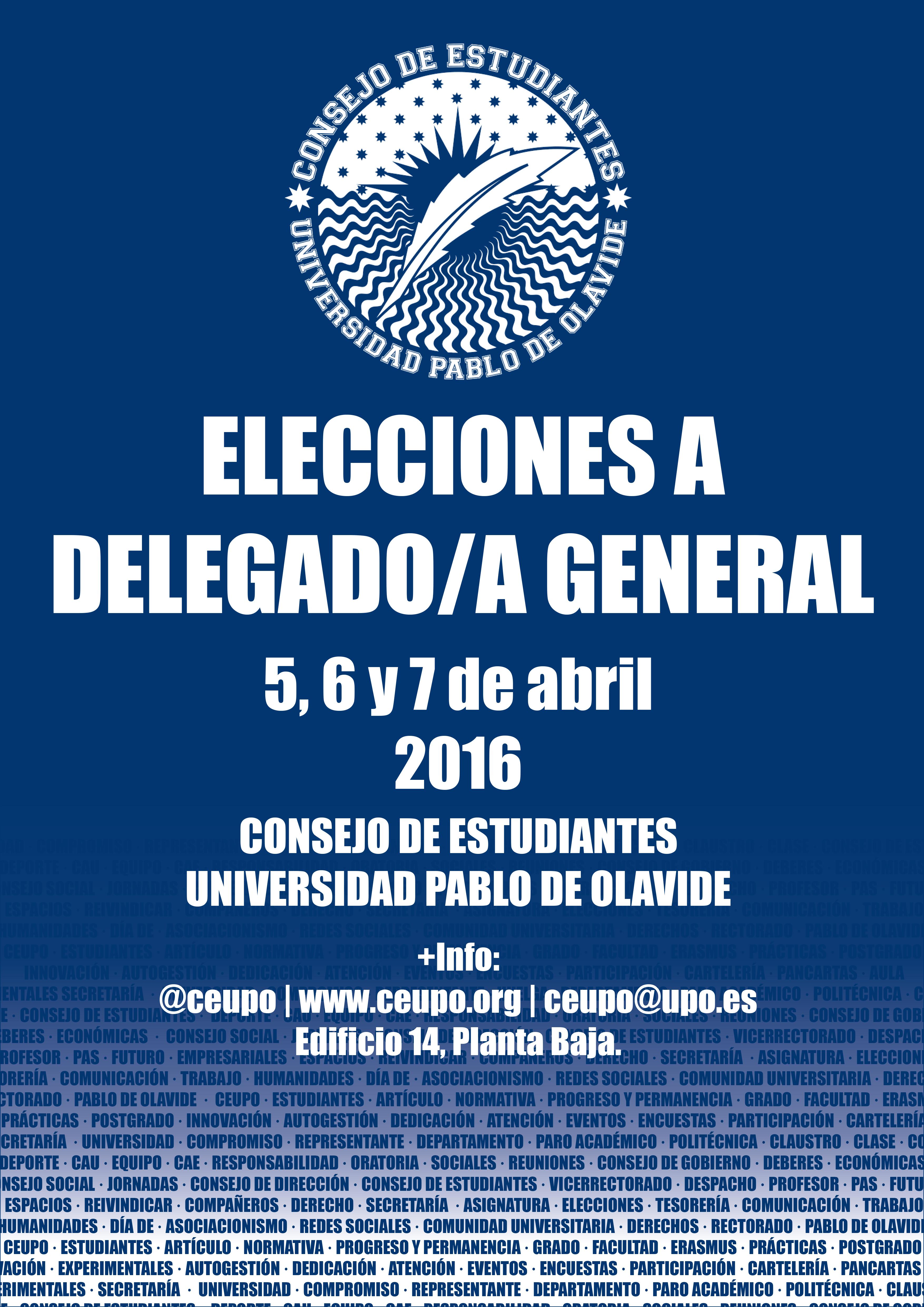 Elecciones a Delegado/a General del Consejo de Estudiantes